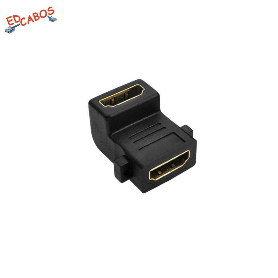 Adaptador Emenda HDMI 90º para Cabo