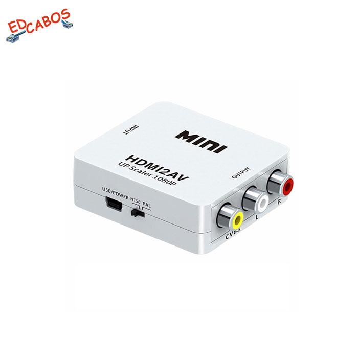Conversor HDMI RCA com Cabo USB Alimentação 5v