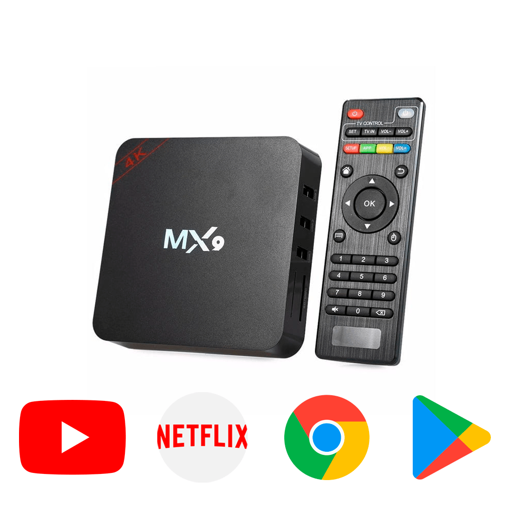 Android TV Box 4K NETFLIX, YOUTUBE, FACEBOOK