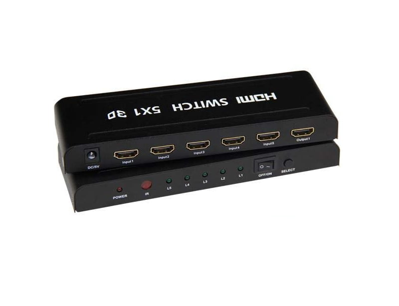 Switch HDMI 5 portas
