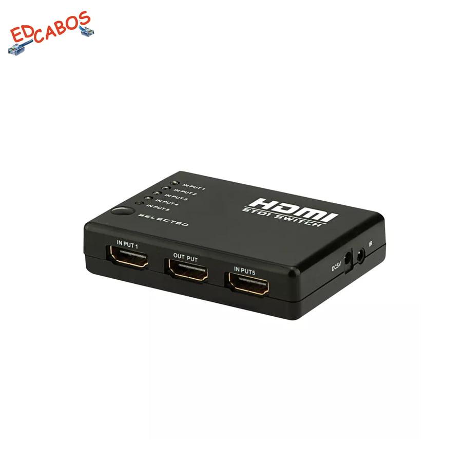 Seletor Switch HDMI 5 entradas 1 saída 5x1 PVC