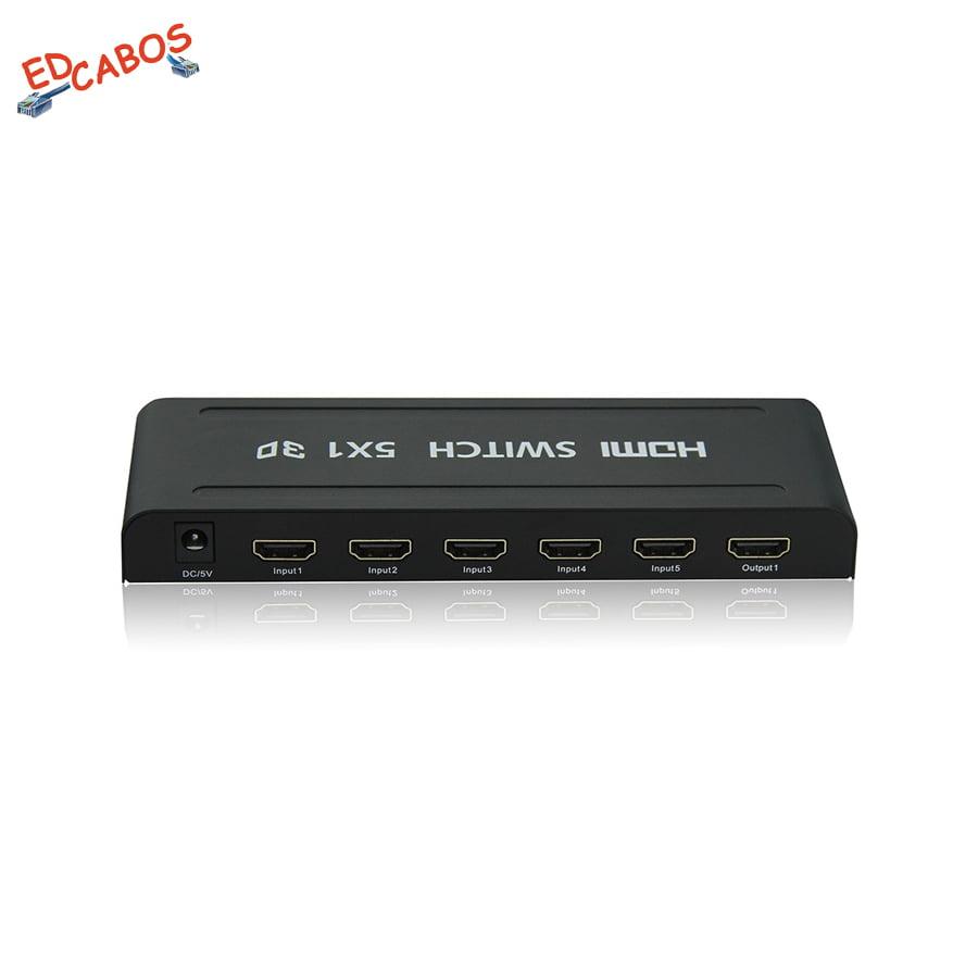 Switch HDMI 5 Portas Ativo