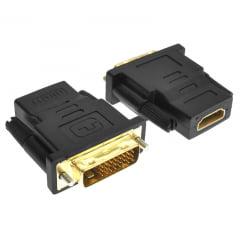 Adaptador DVI para HDMI Preto