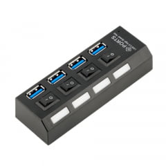 HUB USB 3.0 4 Portas Liga/Desliga