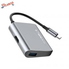 Adaptador USB C para HDMI com USB 3.0 Baseus