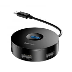 Hub USB C para 4 Portas Round Box Baseus