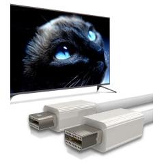 Cabo Mini DisplayPort 1,5 Metros Branco