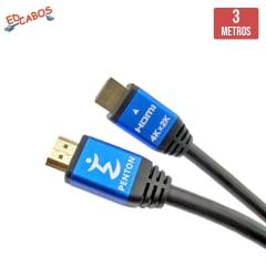 Cabo HDMI 2.0 3 Metros Ultra HD 4K 19 Pinos @60Hz Penton