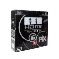 Cabo HDMI 2.0 50 Metros 4K Ultra HD Com Filtro 19 Pinos @60Hz PIX