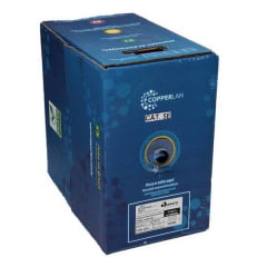 Cabo de Rede CAT5E Copperlan 24AWG Azul