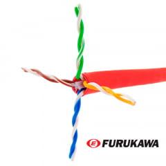 Cabo de Rede CAT6 Furukawa Gigalan Vermelho