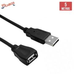 Cabo Extensor USB 5 Metros 2.0