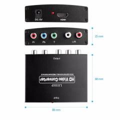 Conversor HDMI para Vídeo Componente Ypbpr + áudio