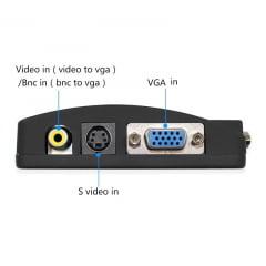 Conversor RCA para VGA Preto