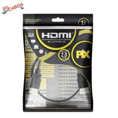 Cabo HDMI 2.0 1 Metro 4K Ultra HD 19 Pinos @60Hz PIX