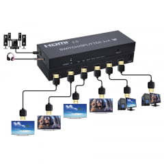 Splitter HDMI 2X4 2.0 4K 60Hz